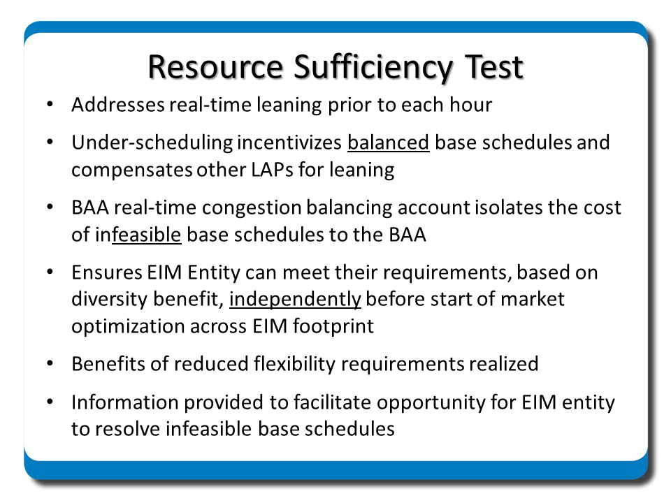 California Greenhouse Gas Regulations Optimization process efficiently schedules resources at least cost, recognizing Calif.