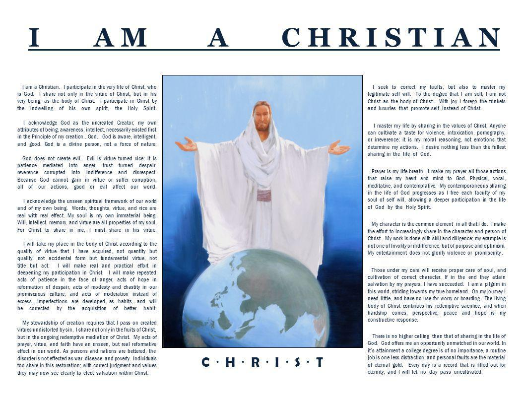I am a Christian. I participate in the very life of Christ, who is God.