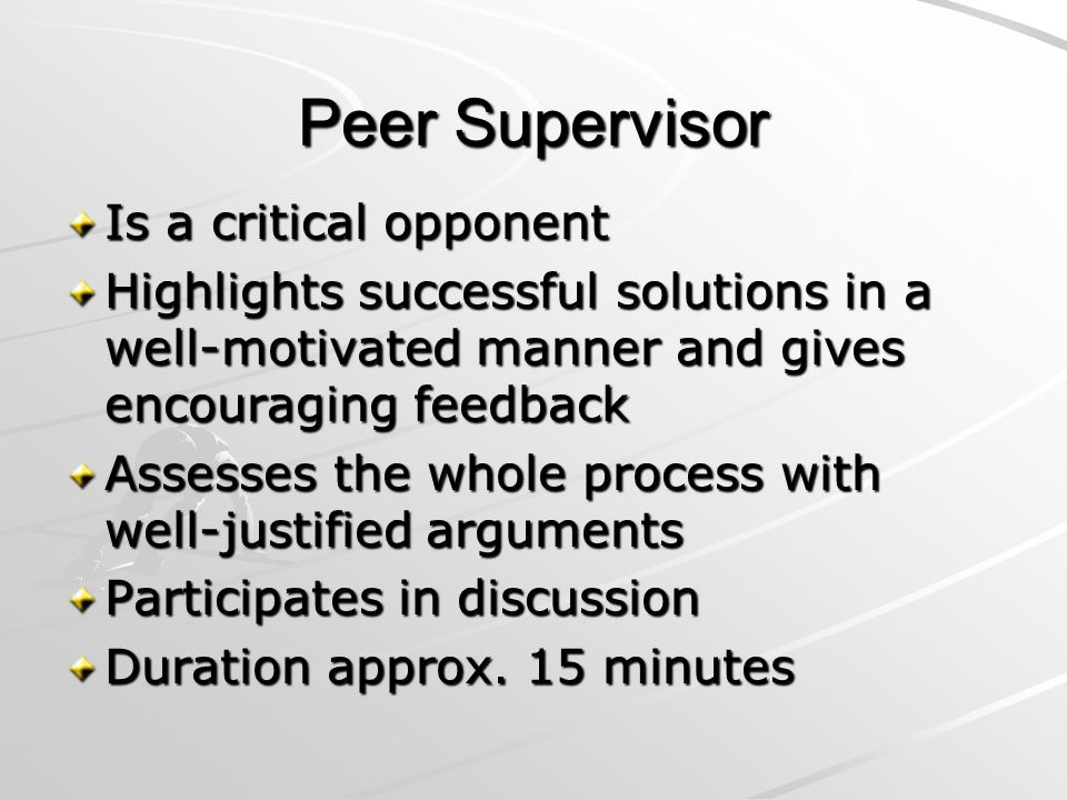 Shared Expertise Supervisors make notes and participate in professional dialogue Approx.