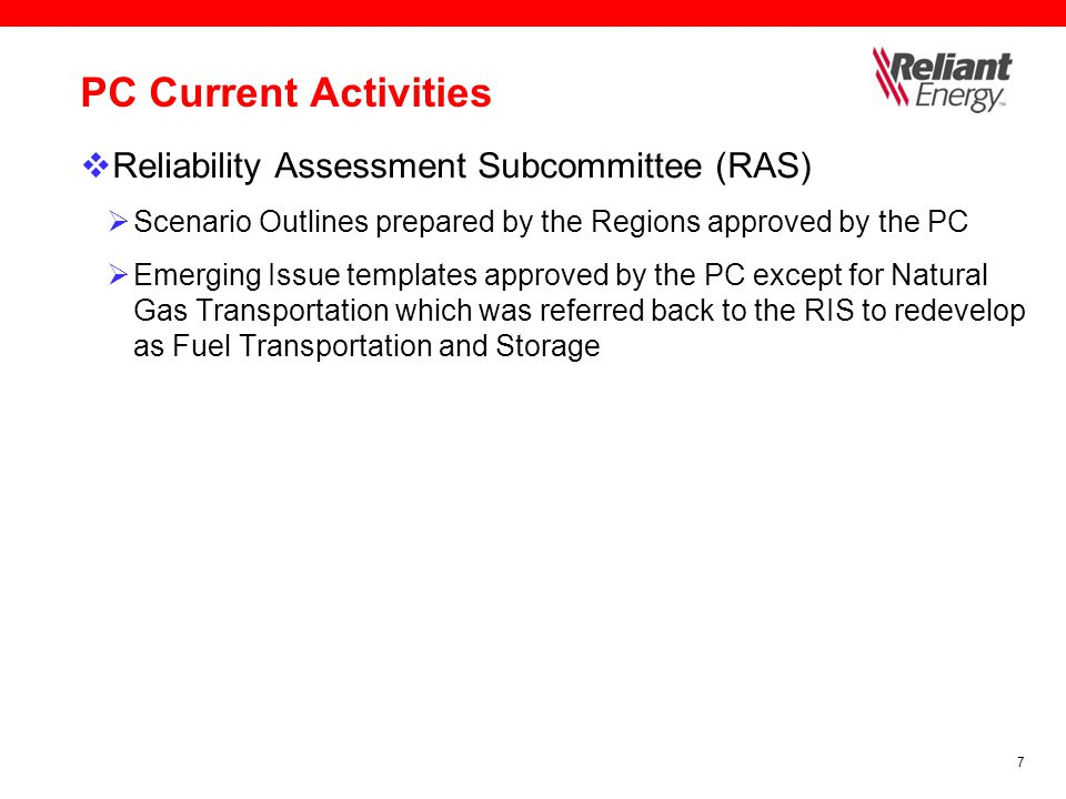 8 PC Current Activities  Transmission Availability Data System Task Force (TADS)  Phase I webTADS Reporting  1 st Qtr '08 data submittal deadline extended from 5/30 to 6/30  TO Data Submittal  RE Data Review  NERC Data Review and Analysis  Results available Aug 2008  Phase II Final report due in Aug 2008  PC approval of final report in Sept 2008  Board approval in Oct 2008  Begin reporting in 2009