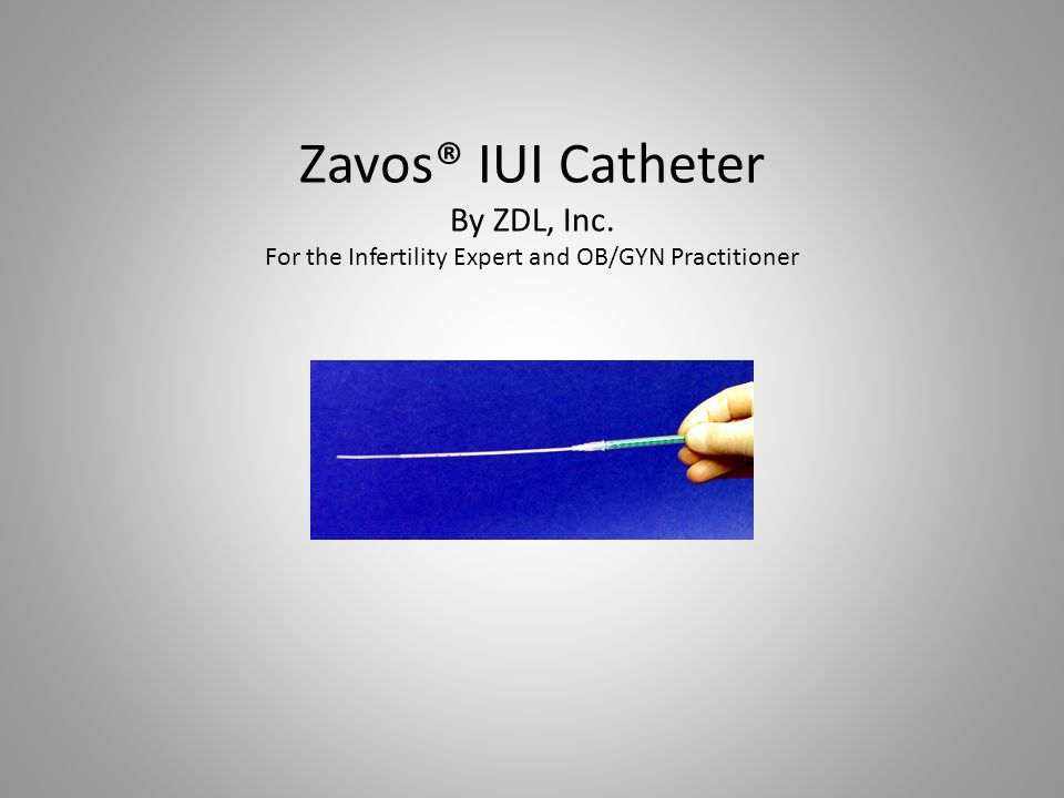 The Zavos® IUI Catheter is a 5 Fr.IUI catheter made out of clear polyethylene, 18 cm in length.