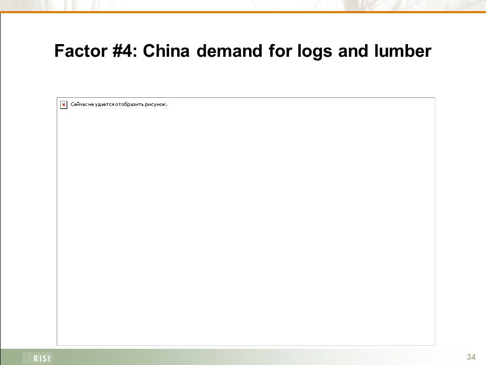 34 Factor #4: China demand for logs and lumber