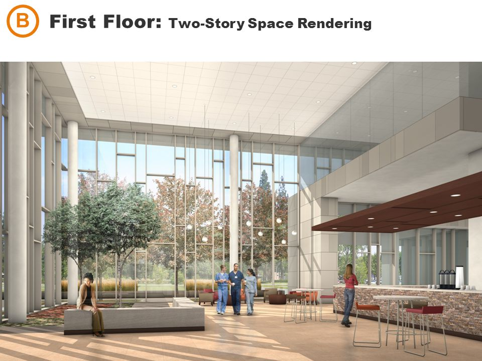 First Floor: Two-Story Space Rendering B