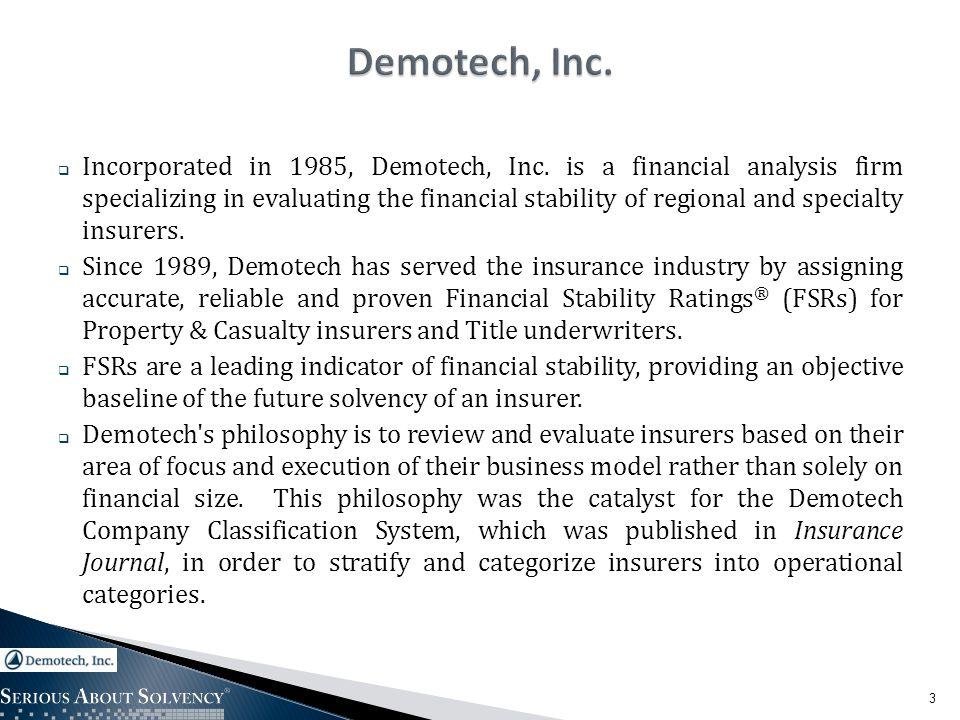 14 Comparative Study of Demotech, Inc.versus A.M.