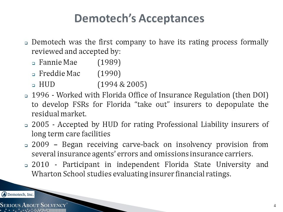 15 Comparative Study of Demotech, Inc.versus A.M.
