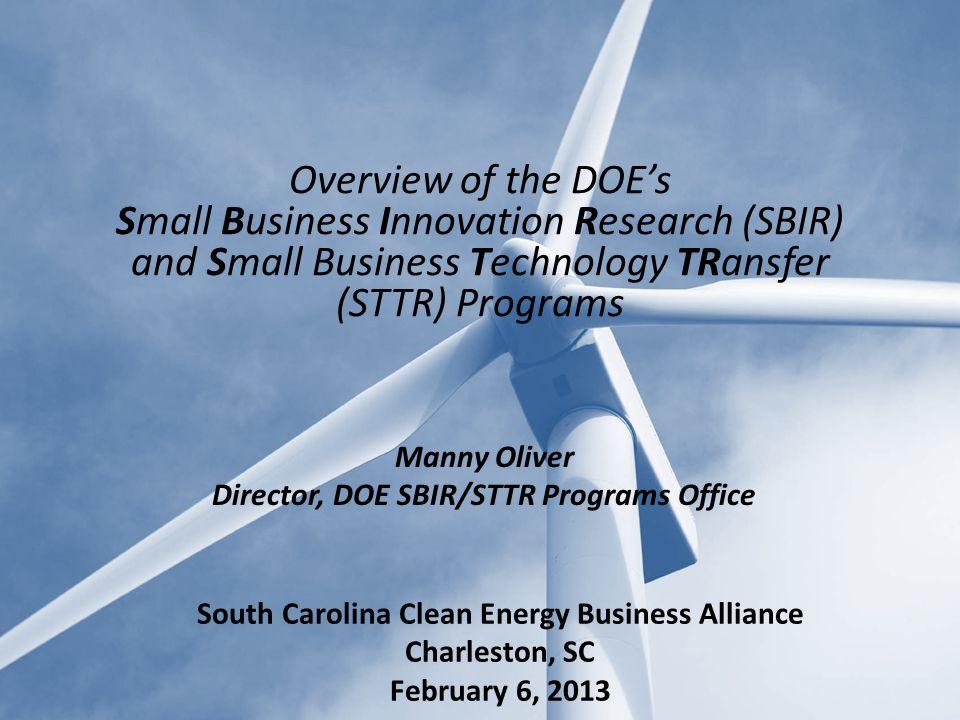Overview of Federal SBIR/STTR Programs