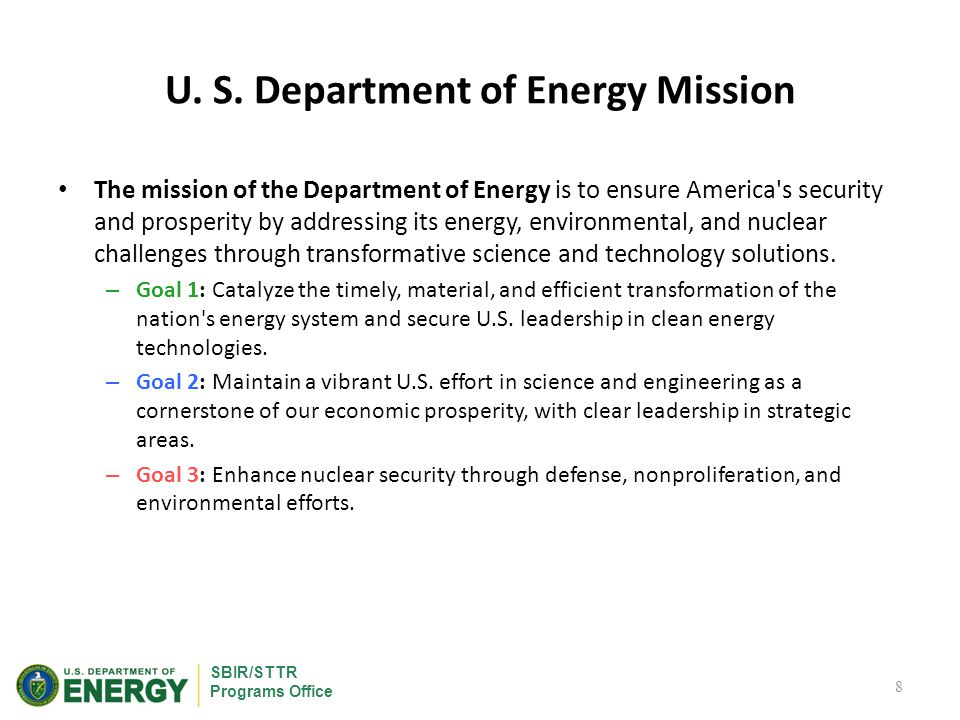 SBIR/STTR Programs Office DOE Program Offices Participating in SBIR/STTR Defense Nuclear Nonproliferation Environmental Management Fossil Energy Energy Efficiency & Renewable Energy Energy Efficiency & Renewable Energy Electricity Delivery & Energy Reliability Electricity Delivery & Energy Reliability Nuclear Energy Environmental Management Fossil Energy Advanced Scientific Computing Research Basic Energy Sciences Biological & Environmental Research Fusion Energy Sciences High Energy Physics Nuclear Physics DOE SBIR/STTR Programs Office New for FY12: ARPA-E SBIR/STTR Programs 9