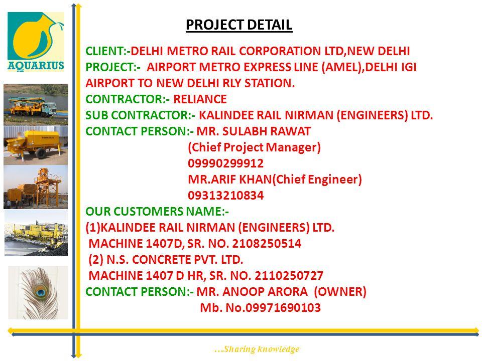 …Sharing knowledge M/s Kalindee Rail Nirman Engineers Ltd.