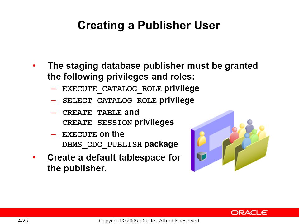 4-25 Copyright © 2005, Oracle. All rights reserved.