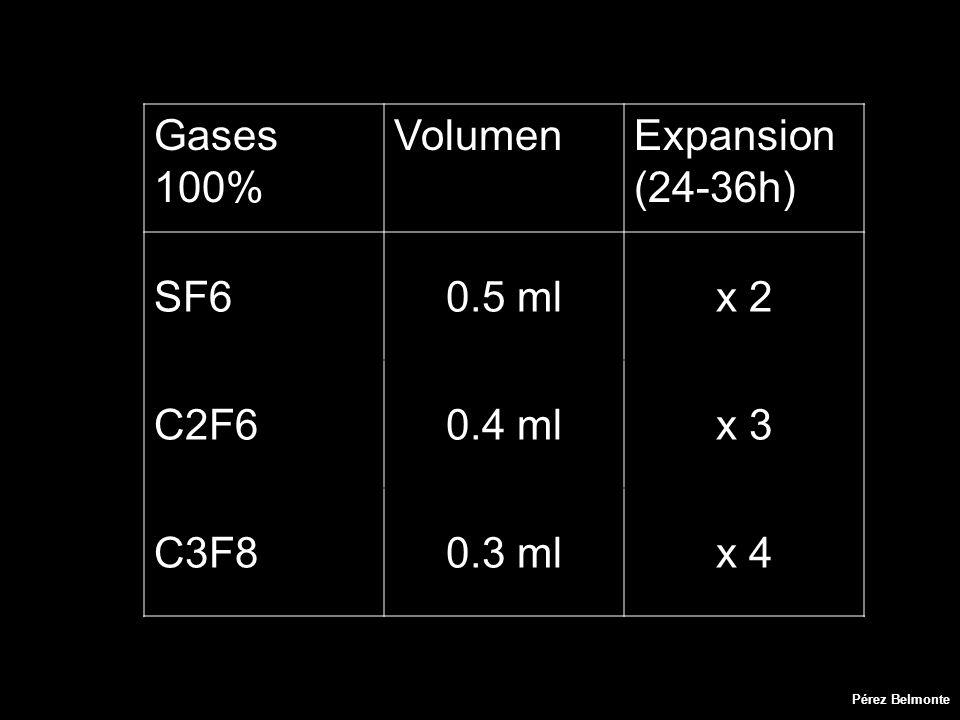 Gases 100% VolumenExpansion (24-36h) SF60.5 mlx 2 C2F60.4 mlx 3 C3F80.3 mlx 4 Pérez Belmonte