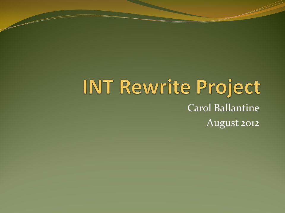 INT Update INT-0076/INT-003 INT-0077/INT-004 INT-0078/INT-009 INT-0079/INT-011 INT-0080/INT-014 INT-0081/INT-015 INT-0082/INT-016