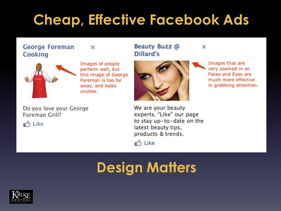 Cheap, Effective Facebook Ads Design Matters