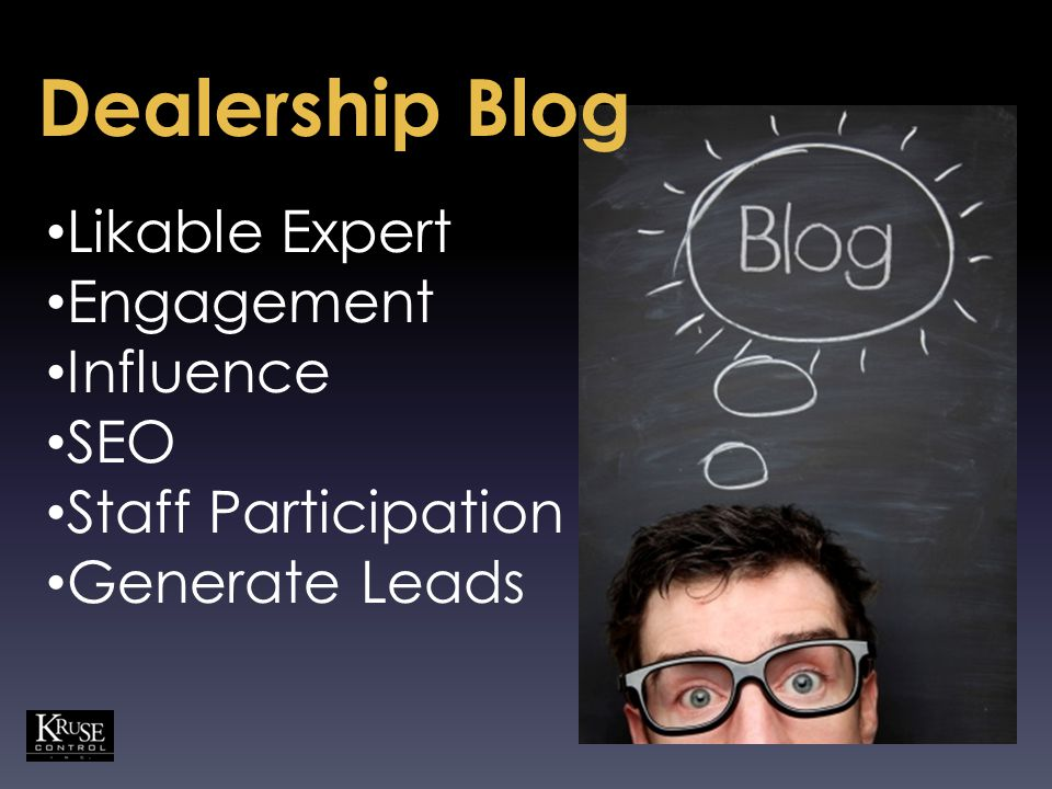 Likable Expert Engagement Influence SEO Staff Participation Generate Leads Dealership Blog