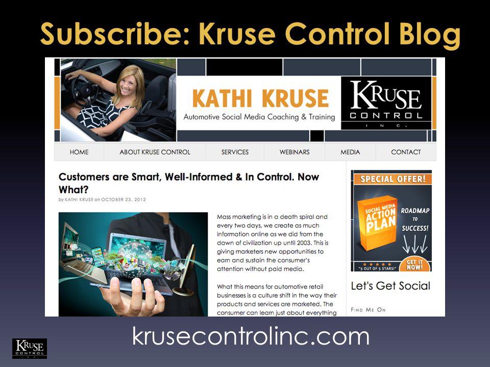Subscribe: Kruse Control Blog krusecontrolinc.com