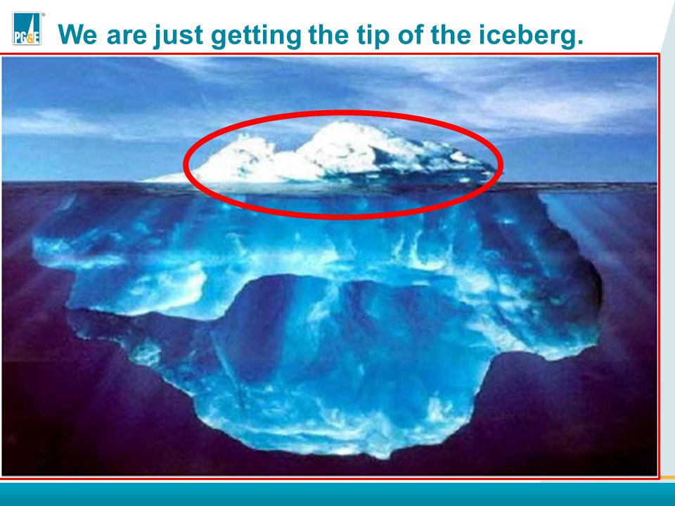 We need to look at the rest of the iceberg There is a much larger pool of information available to us if we include near-misses.