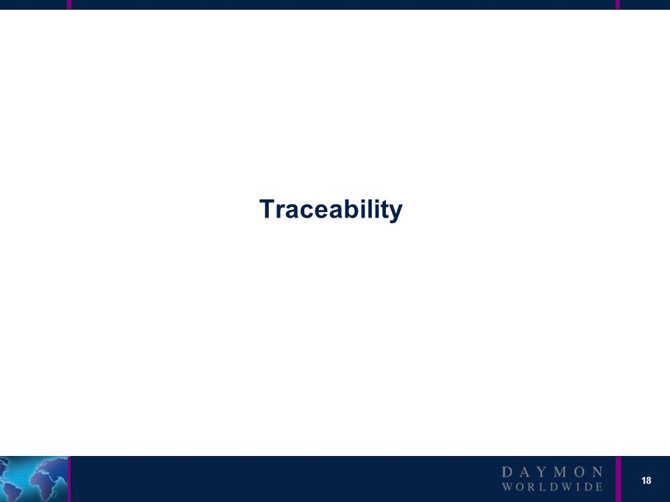 18 Traceability
