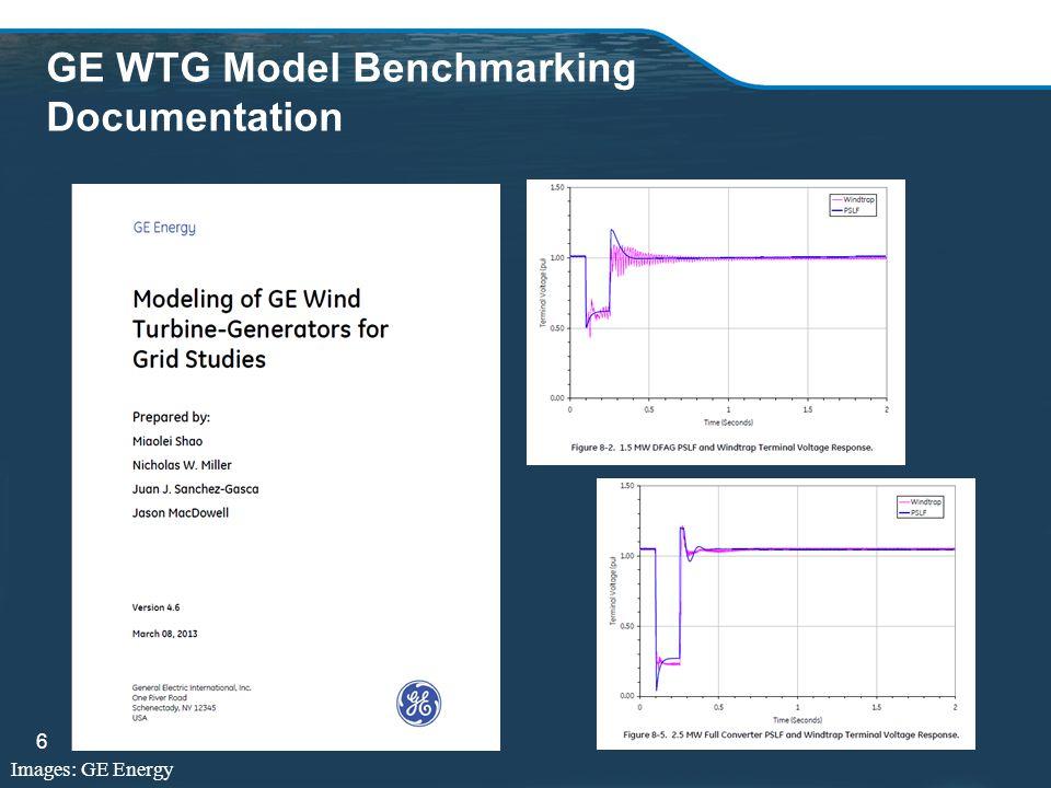 GE WTG Model Benchmarking Documentation 6 Images: GE Energy