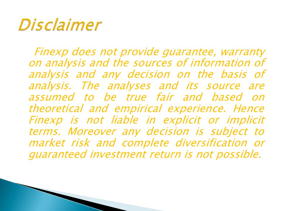 Finexp does not provide guarantee, warranty on analysis and the sources of information of analysis and any decision on the basis of analysis. The anal