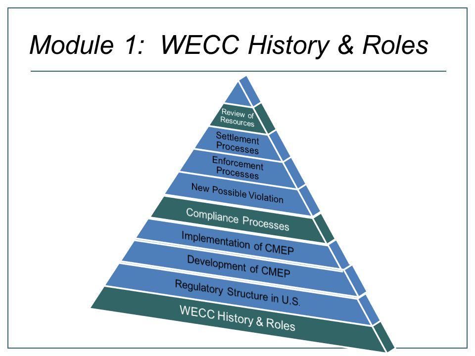 Module 1: WECC History & Roles