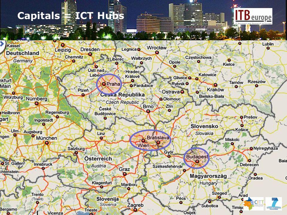 Capitals = ICT Hubs
