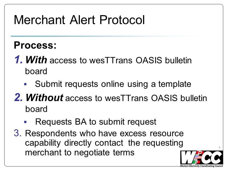 7 Merchant Alert Protocol Process: 1.