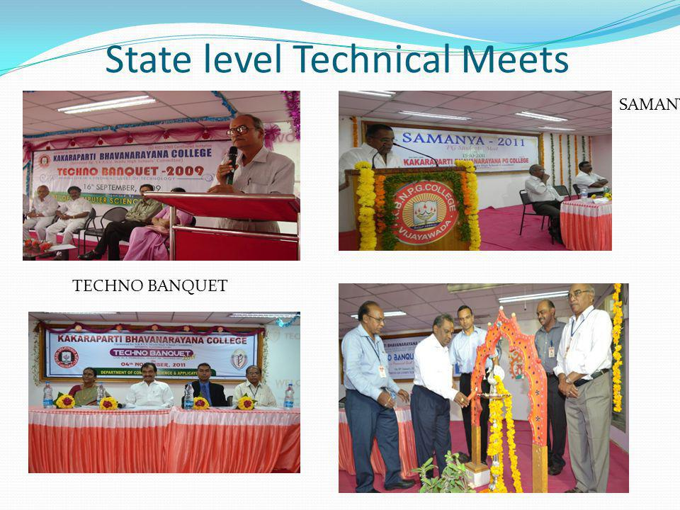 State level Technical Meets TECHNO BANQUET SAMANYA – PG Meet