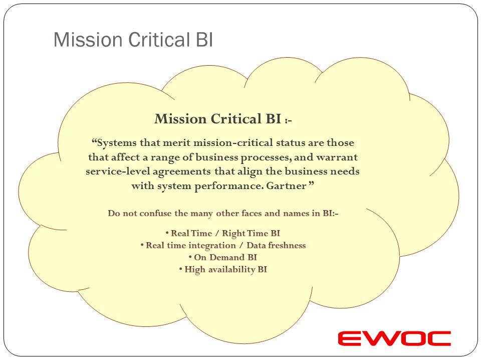 Mission Critical BI