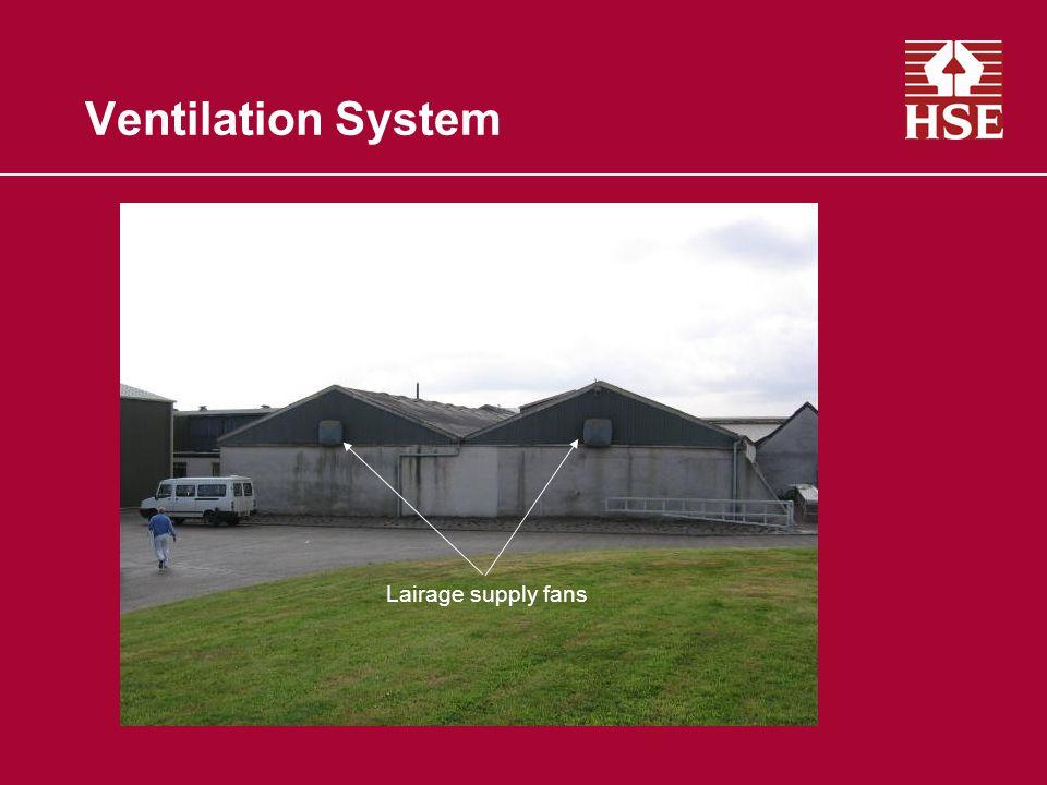 Ventilation System Lairage supply fans