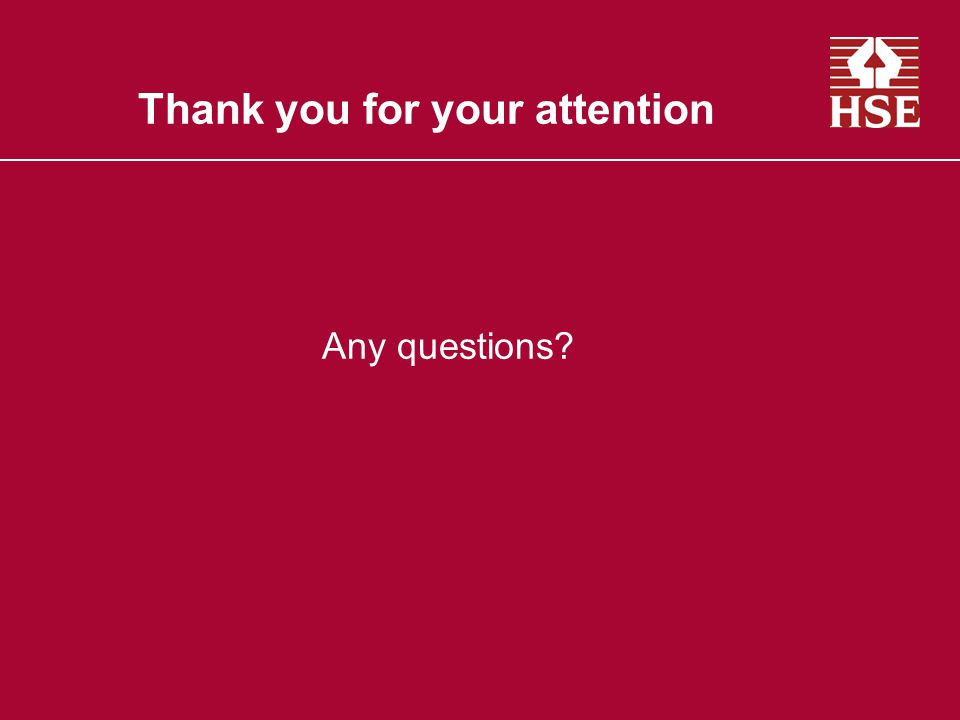 Thank you for your attention Any questions?