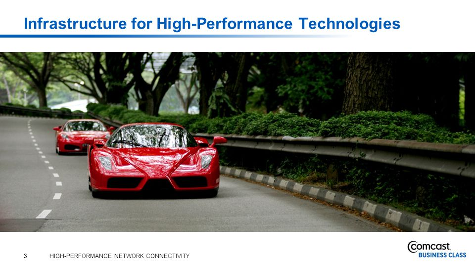 3 HIGH-PERFORMANCE NETWORK CONNECTIVITY Infrastructure for High-Performance Technologies
