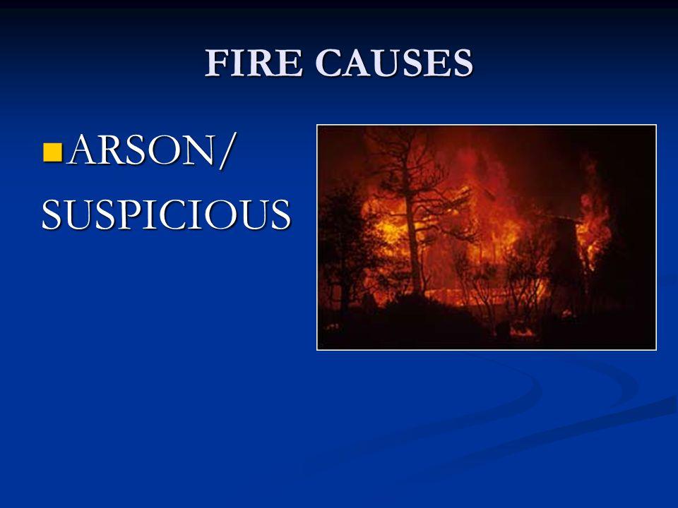 FIRE CAUSES ARSON/ ARSON/SUSPICIOUS