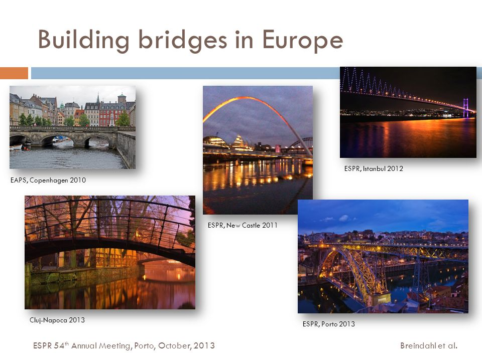 Building bridges in Europe Breindahl et al.