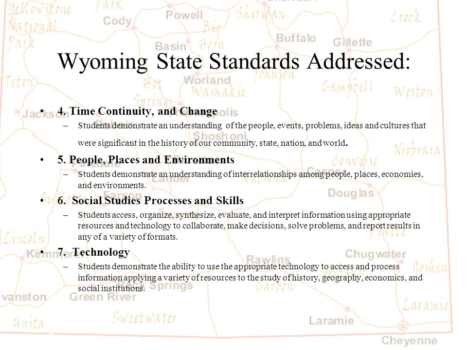 Barb Austin LCSD#1 Project Resources Map: KME and   Technology Integration—Wyoming History Slide 2 link and follow directions in notes.Slide 2 link General Wyoming State information.