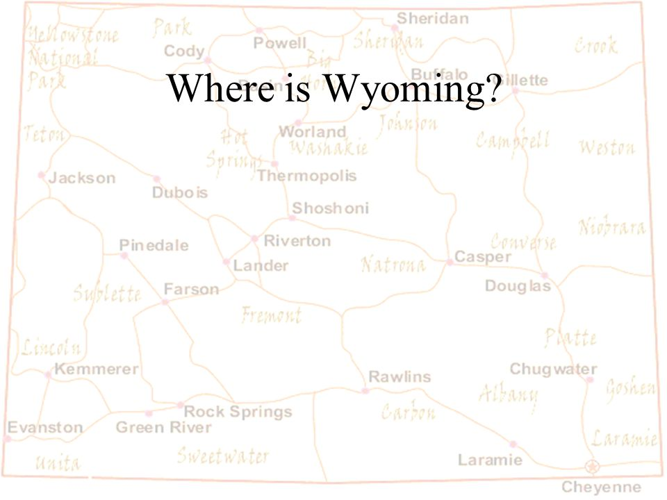 Barb Austin LCSD#1 Where is Wyoming