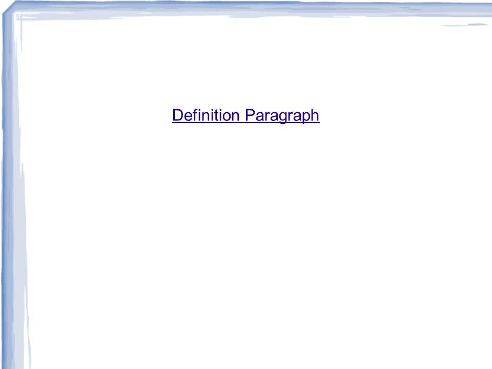 Definition Paragraph