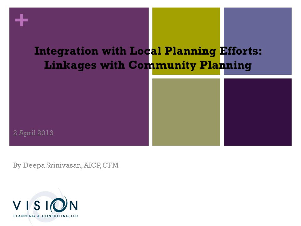 + Our Agenda for Today 1.Provide an Introduction to Plan Integration 2.