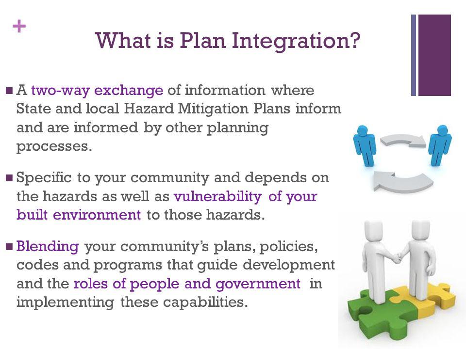 + So…..Hazard Mitigation and Community Planning are joint at the hip.