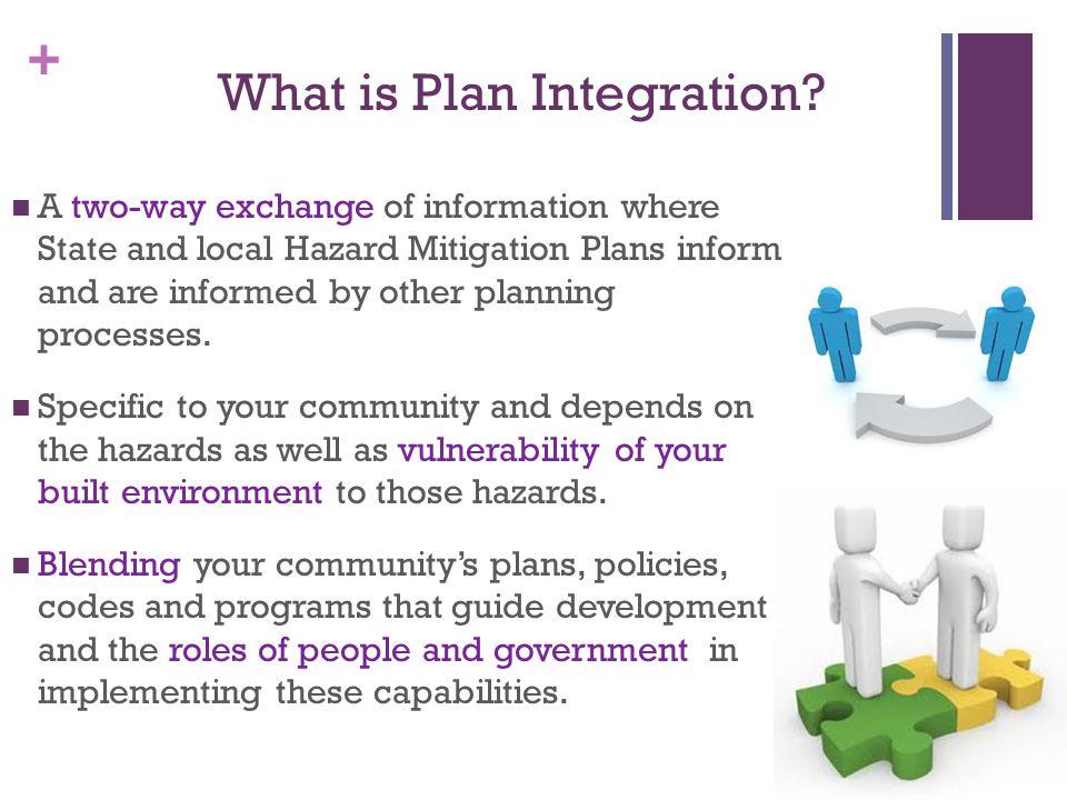 + Why Plan Integration.