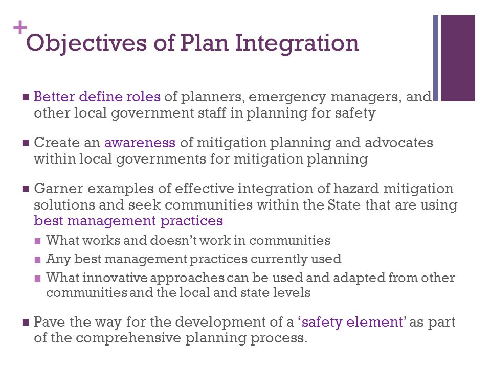 + Examples – Incorporation into Other Planning Mechanisms State HIRA can be used by state Exercise and Training staff as the basis for scenario development After Action Reports/Improvement Plans could be used to develop state mitigation actions.