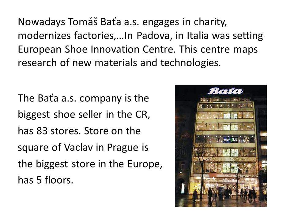 Nowadays Tomáš Baťa a.s.