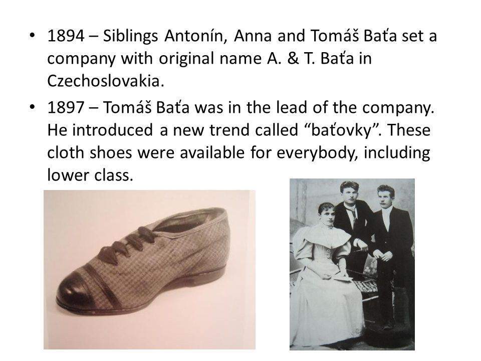 1905 – 250 employers – 2200 pairs of shoes per day.