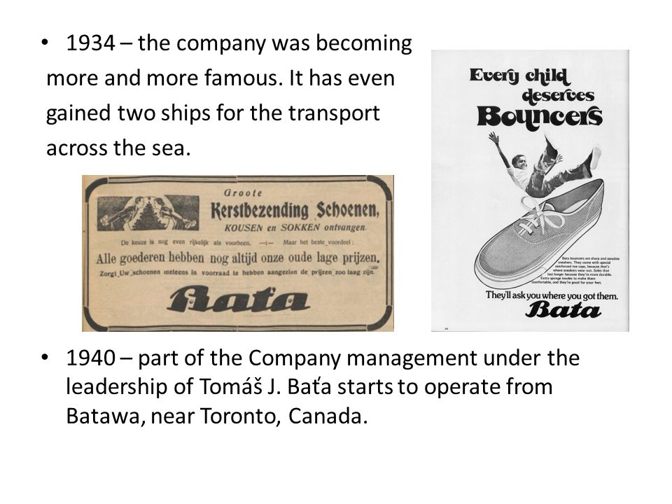 1934 – the company was becoming more and more famous.
