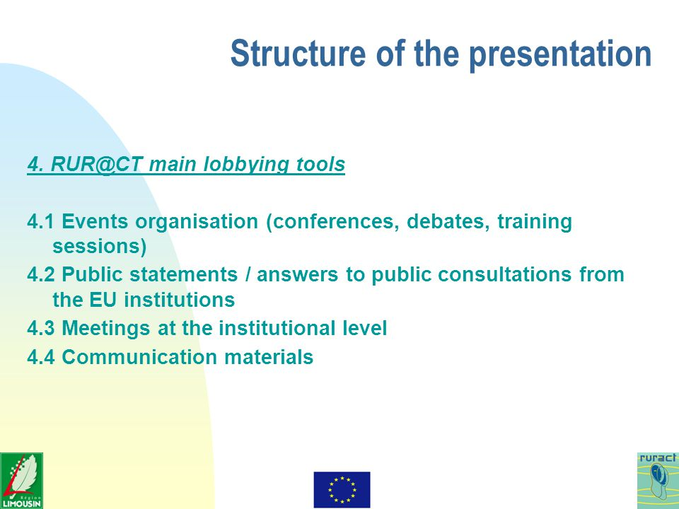 Structure of the presentation 4.
