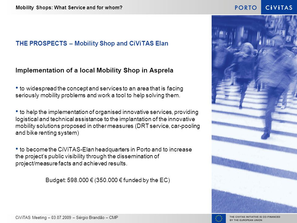 Mobility Shops: What Service and for whom.