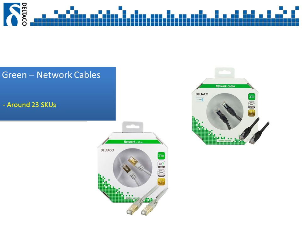 Green – Network Cables - Around 23 SKUs
