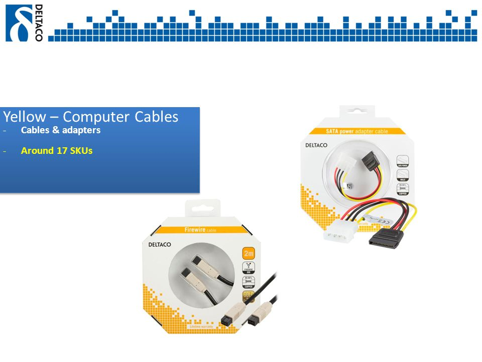 Yellow – Computer Cables -Cables & adapters -Around 17 SKUs Yellow – Computer Cables -Cables & adapters -Around 17 SKUs