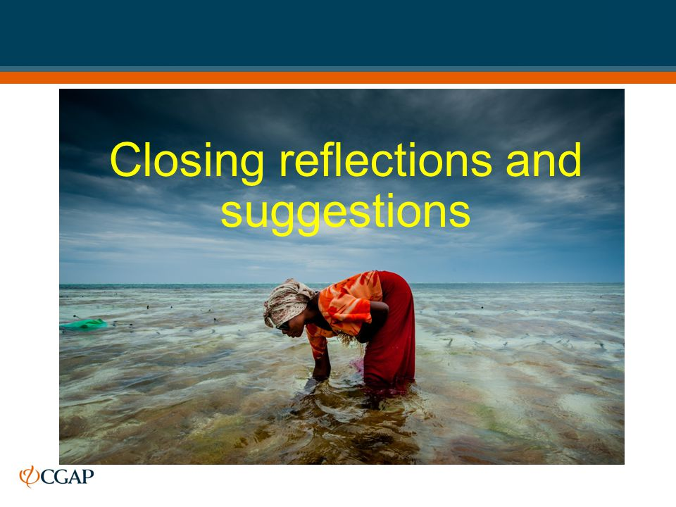 Closing reflections and suggestions