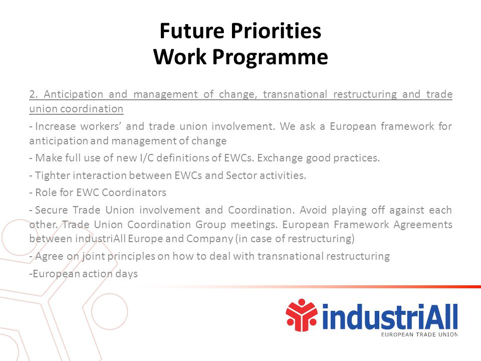 Future Priorities Work Programme 2.