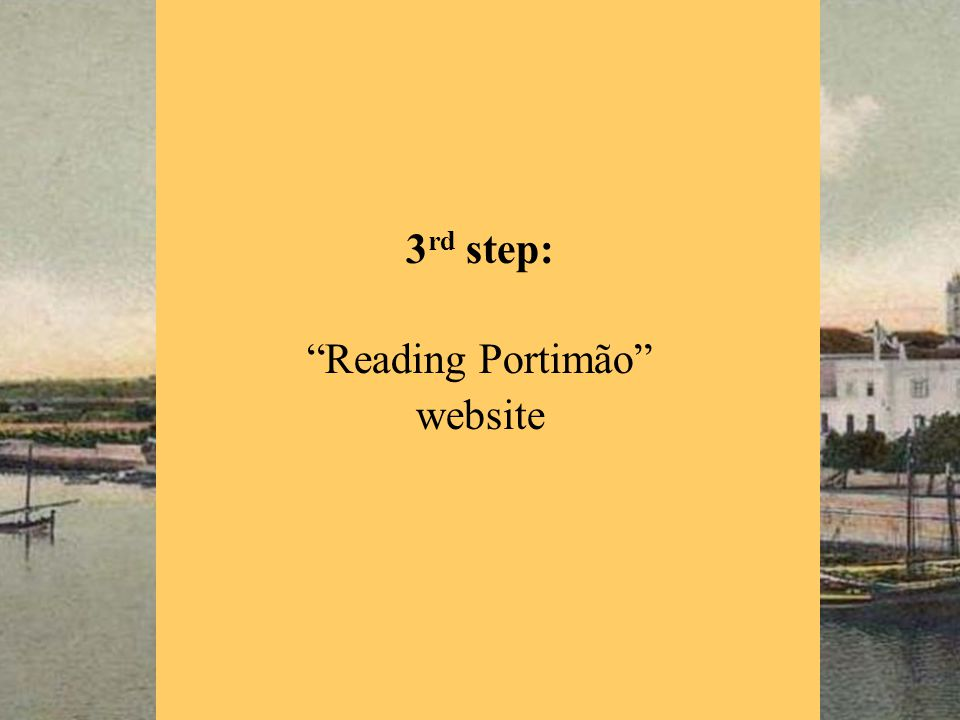 3 rd step: Reading Portimão website