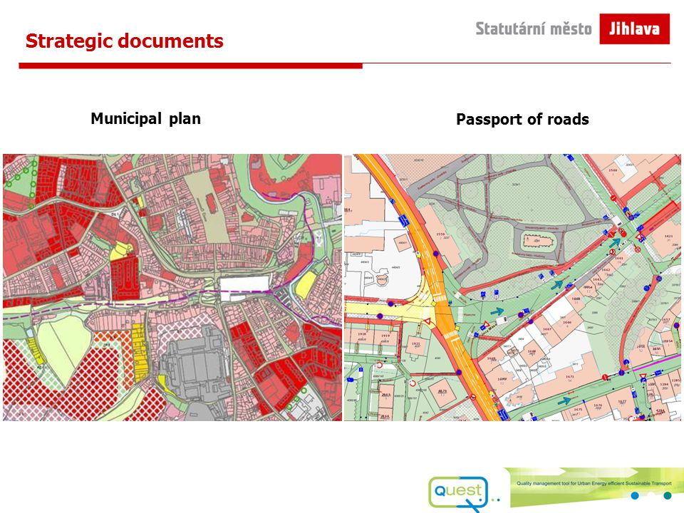 Passport of roads Municipal plan Strategic documents
